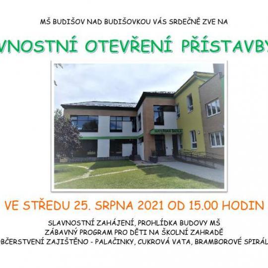 Slavnostní otevření přístavby mateřské školy